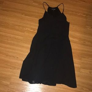 Black EXPRESS dress. Fit and flare.